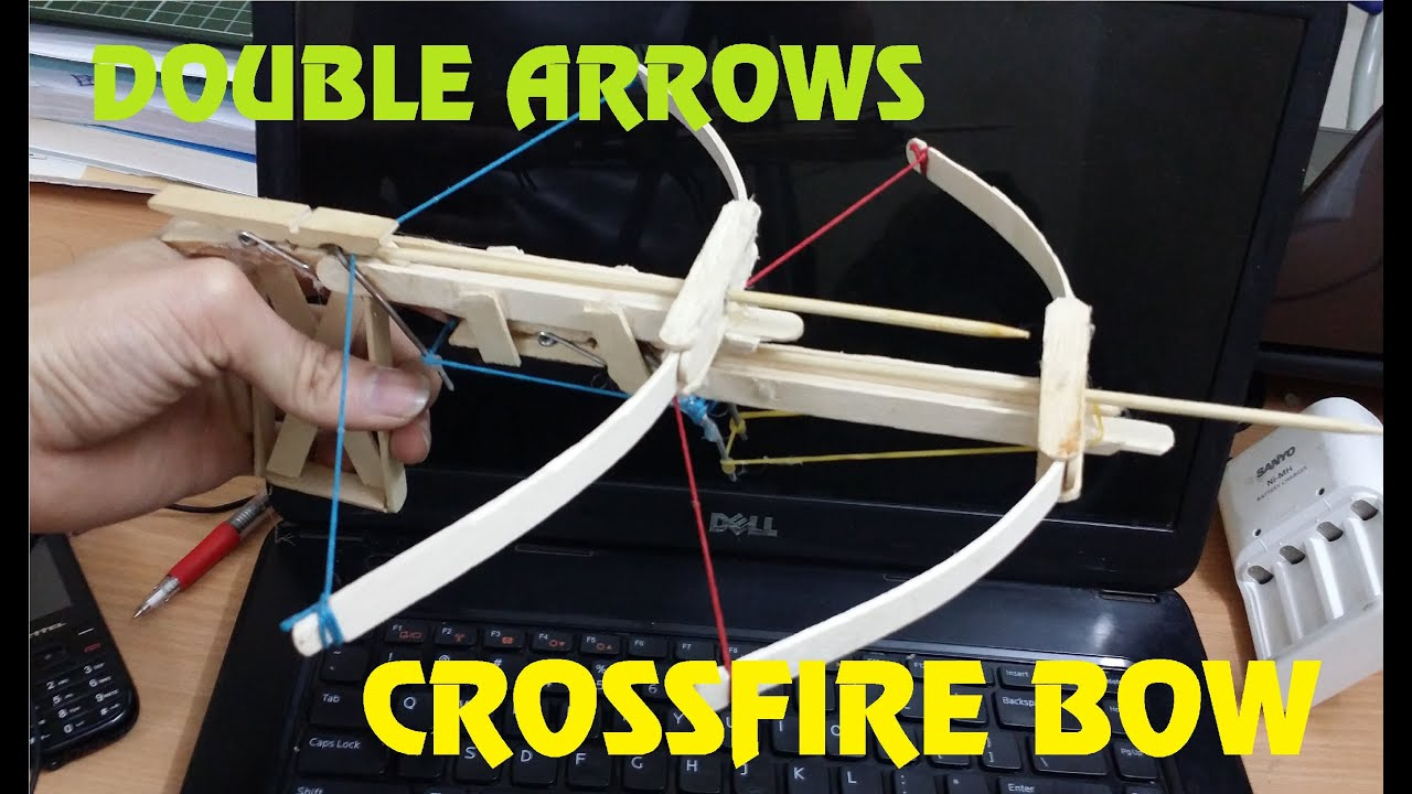 Popsicle stick bow and arrow instructions