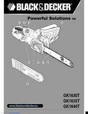 black and decker gk1640t chainsaw manual