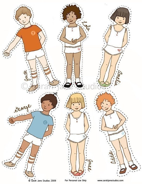 Paper dolls with clothes pdf