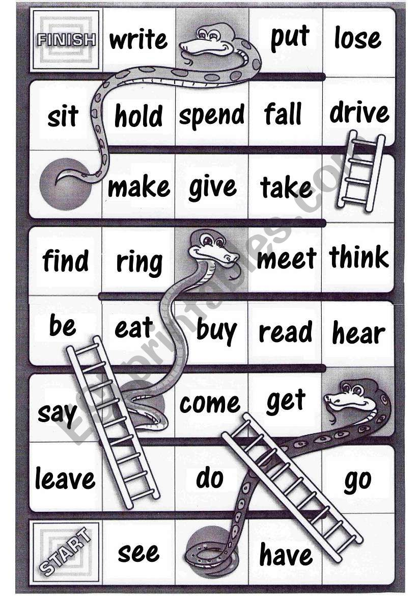 Snakes and ladders esl pdf