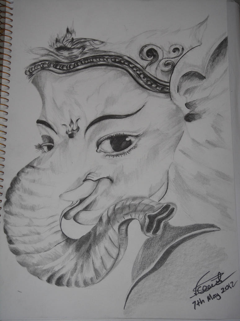 Buddha god face how to draw easy