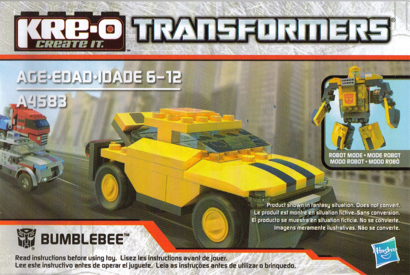 transformers ultimate bumblebee instructions pdf