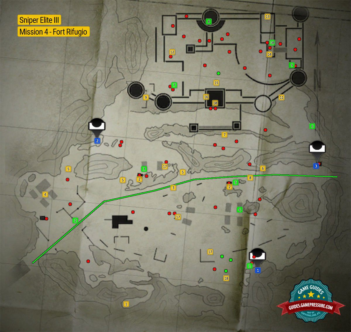 Sniper elite 3 all collectibles map guide