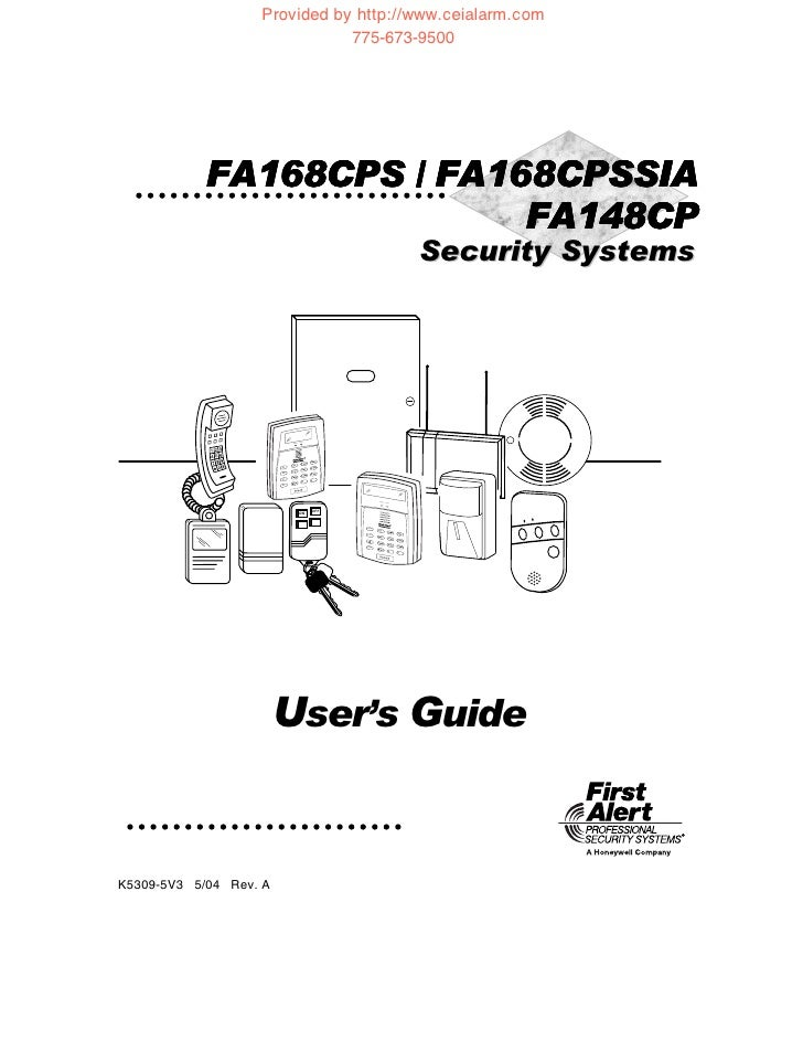 First alert professional security system manual
