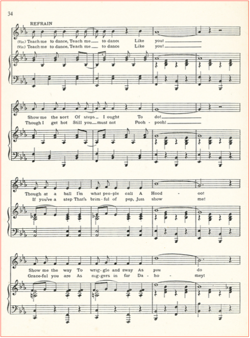 When you taught me how to dance sheet music