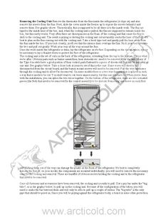 Dometic cooling unit replacement instructions