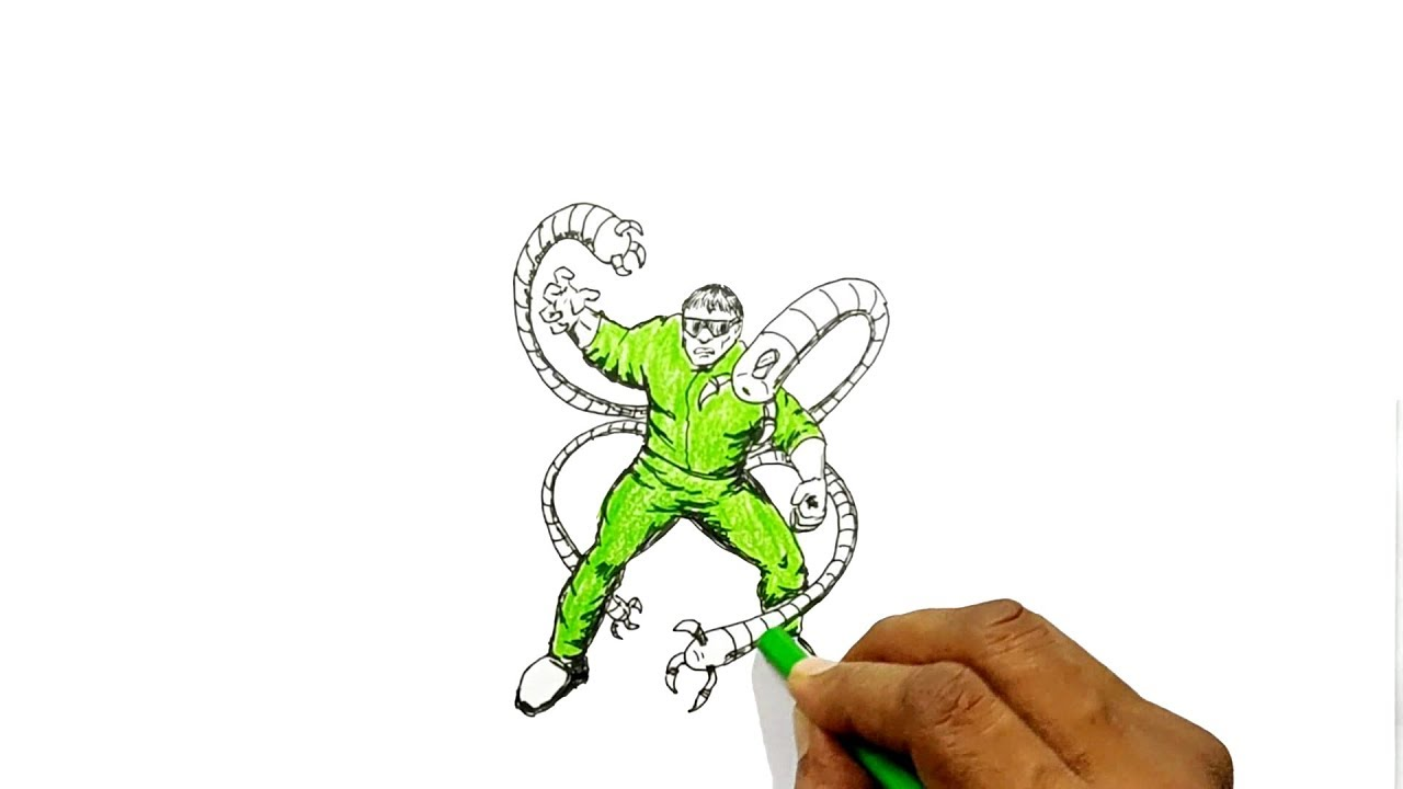 Dr octopus how to draw