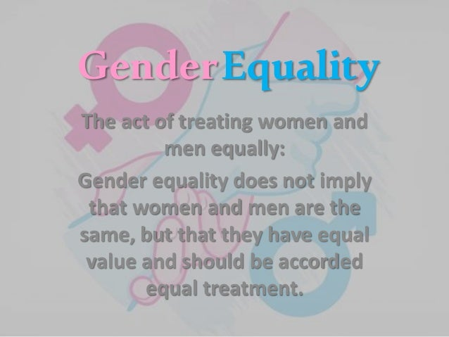 Gender equality definition oxford dictionary