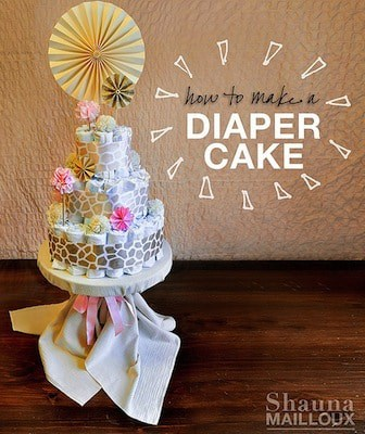 instructions on how to make a diaper cake