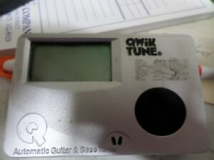 Qwik tune automatic guitar and bass tuner manual