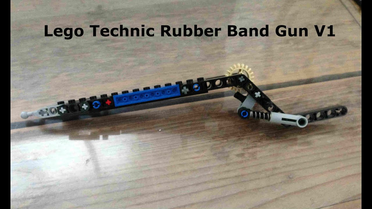 simple lego rubber band gun instructions