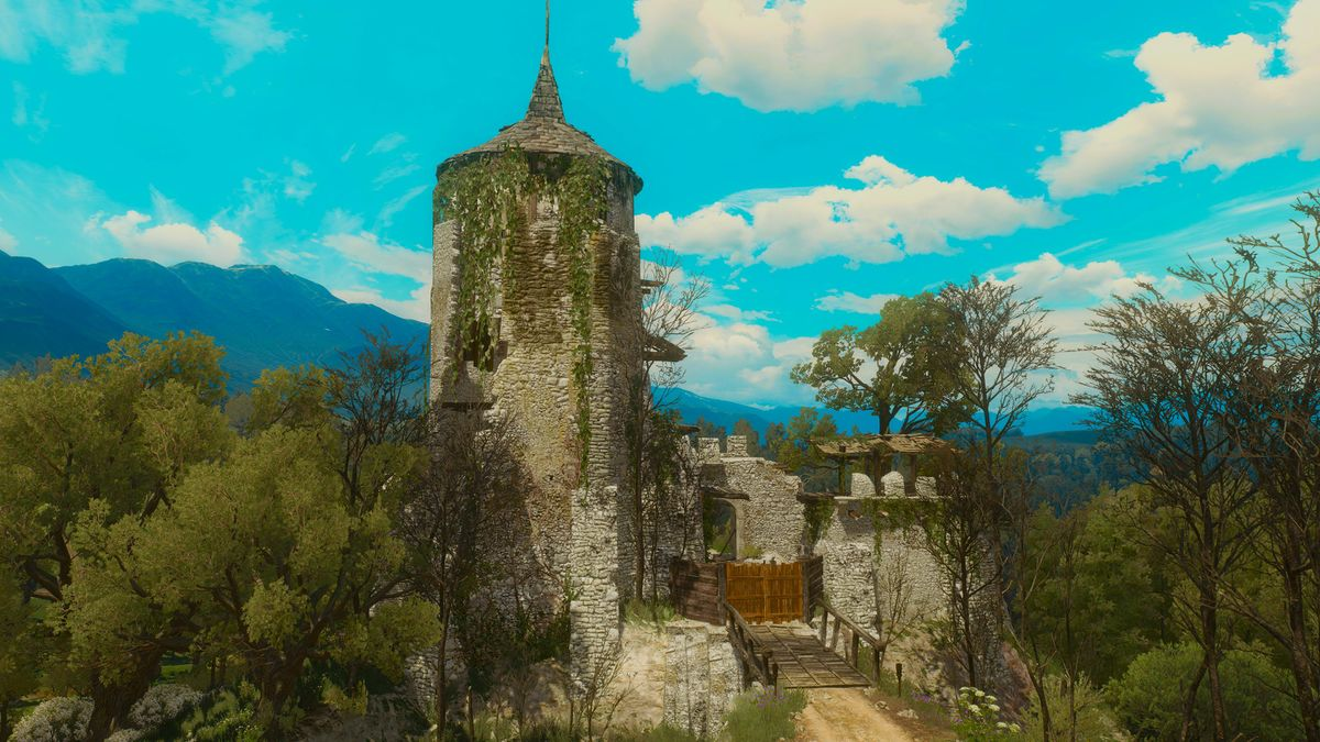 The witcher 3 castle ruins how to get in
